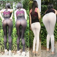 Wholesale Real Photo Hot Sale new Transparent milk silk ice silk package hip nightclub sexy low waist elastic summer of sexy leggings Free s