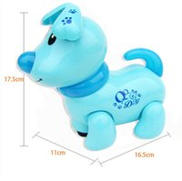 Wholesale HOT Sale Musicial Electronic Robot Walking Dog Puppy Toy Early Educational Shine Pet Safe Preschool Toy For Kids Children