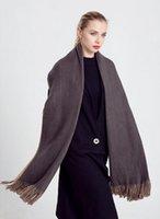 Precio de Mejores bufandas de moda-La nueva manera larga de la bufanda de invierno cálido chal bufanda de las mujeres unisex hembra manta sólido de la bufanda de Pashmina Studios mejor calidad de la borla de las mujeres Wraps