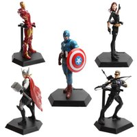 Wholesale The Avengers super hero kids toy ornaments Superman Batman IronMan Thor Captain America superhero Action Figures styles