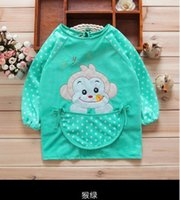 best kitchen designs - waterproof unisex baby best bib with long sleeve and o neck design baby overclothes and bibs baby kitchen pinafore for lovely children