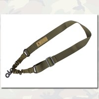 Wholesale Tactical Combat Point Bungee Sling Strap System Tactical Single Adjustable TAN BK OD High Quality Outdoor Gear