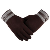 autumn drive - Hot Sales Autumn Winter Mens Five Fingers Gloves Touch Screen Gloves Male Thicken Thermal Driving Gloves YS0124