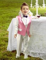 Wholesale Custom Made Pretty pink Boy s Formal Wear Wedding Party Children Baby Kids Suits boy s Tuxedos Custom Made