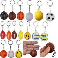 baseball sporty - Soft Ball cm Basketball Baseball Volleyball Football Rugby Golf Tennis Keychains Keychain Key Ring Sport Pendants Ornaments