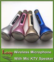 Wholesale K068i update from K068 professional wireless microphone bluetooth handheld speaker for KTV karaoke Microphone with Lound speaker DHL Free