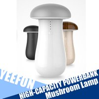 Wholesale Cell Phone Chargers for Phone Mushroom Lamp High capacity Power Bank mAh Small Size