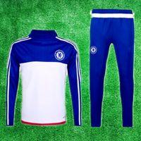 Wholesale 2016 Chelsea Training Suit Chandal Maillot de Foot Survetement Football Tracksuits Sportswear pants soccer jerseys Uniforms shirts