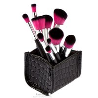 beauty product storage - Women s New Fashion beauty Products Lady Cosmetic Brushes Tool with Crocodile Grain Storage Box Makeup Brushes Sets