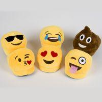 Wholesale New Emoji Smile Plush Novelty Slipper Children Kids Shoes Emoji Smile Soft Warm Indoor Winter Unisex Embroidery Slippers for Boys Girls