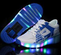 single wheel shoes - fashion Child Jazzy Heelys Junior Girls Boys LED Light Heelys Children Roller Skate Shoes Kids Sneakers With Single Wheels