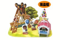 Wholesale Hot new d jigsaw puzzle three dimensional paper model assembled toys for children