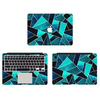 apple macbook skins - Wild Ocean Stone With White Lines Texture Vinyl Full Body Cover Laptop Decal Skins For Apple Macbook inch Protective Stickers