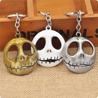 animations metal ring - Europe and the United States around the film Christmas Night Cry Jack skull key ring foreign trade hot animation pendant LL01