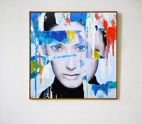 bedroom paint colours - Pop Colour Graffti Street Wall Art Abstract Modern Women Face Portrait Decorative Poster Canvas Print For Bedroom Living Room