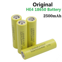 Wholesale 100 Authentic ecig batteries battery HE4 mAh A C rechargeable batteries High Power lithium batteries thread battery