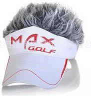Wholesale Fake Hair Golf Cap fashion men Hat wig hair UV Sun Hat Cap golf hat factory supply directly brand new