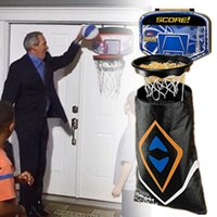 Wholesale Hamper Hoop Over Door Deluxe Lighted Basketball Laundry Hamper Bag Hamper Hoops Dirty Laundry Basketball Hoop and Clothes Hamper Fits Door