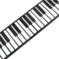 Wholesale 88 Key Electronic Piano Keyboard Silicon Flexible Roll Up Piano with Loud Speaker Wish US Plug