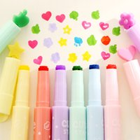 beautiful highlighter - Colors Pattern style Color pen fashion Stamp Highlighters pen marker pens beautiful stationery