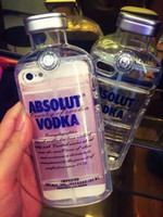 beer case - 3D Transparent ABSOLUT VODKA Phone Case For iPhone S Plus inch Wine Beer Bottle Design Soft TPU Phone Case Cover