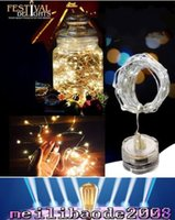 Wholesale 2016 NEW M leds many colors submersible led tiny micro wire string light coin battery operated led light string for wedding party MYY
