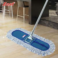 Cheap Wholesale-East Wood floor flat mop Large household 360 degree spin dry magic mop rotating mop