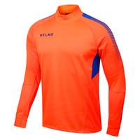 Wholesale Kelme K089 Men Long Sleeve Thumb Buckle Training Light Board Team Sportswear Football Jersey Orange
