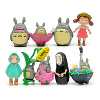 Wholesale 90 classic Hayao Miyazaki Totoro microscopic bonsai succulents Decoration Action Figure doll Toy baby Toys funko pop toy