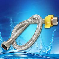 x hose - 19 quot cm x G1 Water Heaters Toilet Tap Faucet Connector Bidet Braided Hose