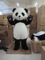 Wholesale Cute Giant Panda Mascot Costume Animal Panda Bear Cartoon Character Fancy Dress for Halloween