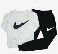 Wholesale European and American Fashion Letters Printing Long Sleeve Slim Sport Sweatersuit Tops Pant Casual Piece Set Women Clothing
