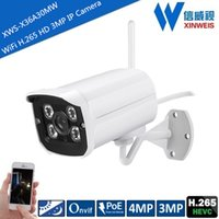 Wholesale Mini H Outdoor Wireless WiFi ONVIF P2P HD MP MP IR Night Vision IP Bullet Camera