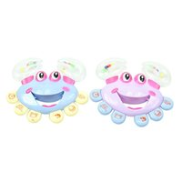 Wholesale 1pc Kids Baby Crab Design Handbell Musical Instrument Jingle Rattle Toy A00033 CAD