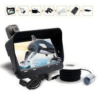 Wholesale Night Vision Video Fishing Camera Lens P m Cable Line inch LCD Screen LED Lights Visual Fish Finder