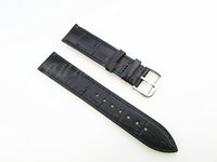 alligator watch bands - 20mm New Black Genuine Leather alligator grain Watch Band Strap belt