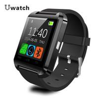 achat en gros de mains libres bluetooth bracelet-Altimètre Bluetooth Smart Watch Smartwatch U8 U80 U MTK Mains-libres Digital-watch Bracelet Sport Bracelet pour Android Phone Samsung iPhone
