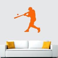 baseball wall decor - Hot New Baseball Batter Sticker Decal Home Decor Vinyl Art Mural DIY