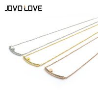american jews - Fashion Promotion Stainless Steel Necklace Gold Silver Rose Gold Plated Necklace Heart On Rectangle Crystal Pendant Elegant Chain Charm Jew