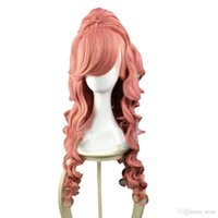 Wholesale Rcoto gt gt gt Vocaloid Megurine Luka Cosplay Party Full Wig Long Curly Ponytail Vocaloid Megurine Luka Cosplay Hair