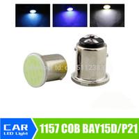 Wholesale 1157 bay15d COB p21 w led SMD Super White v bulbs ICE BLUE RV Trailer Truck car styling Light parking Auto led Car lamp