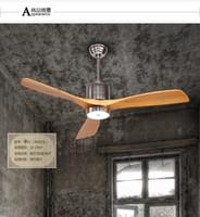 antique nickel chandelier - Ceiling chandelier fan European antique American LED fan lamp ceiling chandelier Minimalism modern inch Fans solid wood leaves