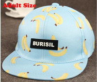 Wholesale Cool New Fruit pattern Adult Kids Fashion Caps Children Baseball Caps For Boys Girls Sun Hip Hop Snapback Caps Summer Hat