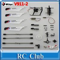 antenna rotor motor - WLtoys V911 V911 Pro Accessories Bag Main Rotor Blade Landing Skid Motor Connect Buckle Screw Tail Blade Balance Bar