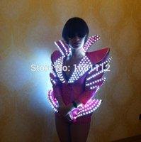 ballet bras - woman luminous costume led Luminous costume Ladies bra luminous shorts LED Ballet costume party Reception clothingss