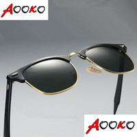 amber best - Hot Retro Club Sunglasses Men Women Best Quality Designer Aluminum frame Glass Lens Master Mirror Sunglasses Lunettes Oculos de mm