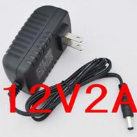 Wholesale 12V2A X2 mm New AC V V Converter power Adapter DC V A Power Supply EU Plug DC