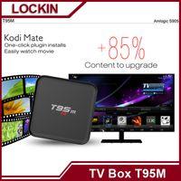 Cheap 4K Smart Tv Box T95M Kodi 16.0 android tv box Amlogic S905 2.4GHz WIFI XBMC Android 5.1 Quad Core Mali-450 LED display VS t95 MX TVA57-3