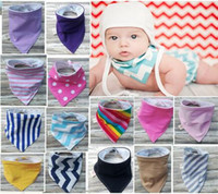 Wholesale 2017 Newborn Baby Bibs Infant Triangle Bib Towels Double Layers Christmas Cotton Bibs For Boy Girls Bibs Burp Cloths