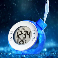 alarm clock battery powered - new ceative digital LCD Water Powered Thermometer Clock Daily Alarm Thermometer No Battery Required multiple colors for option